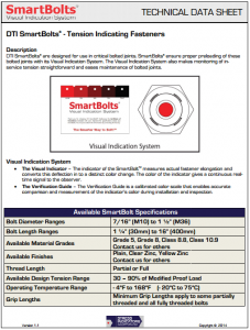 Technical Data Sheet | SmartBolts.com